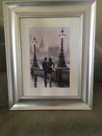 Silver framed print by Macneil