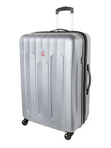 Brand New Swiss Gear Chrome Collection 4 wheel spinner suitcase