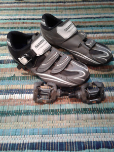 SHIMANO Clip shoes + Pedals