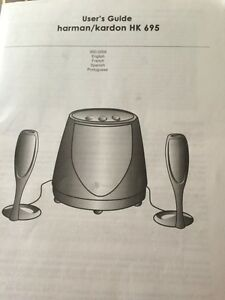 Harman Kardon HK695 speakers and subwoofer