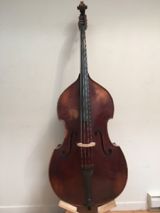 Contrebasse 3/4 bois massif / Full carved Double Bass