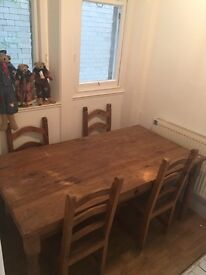 Mexican wooden table and chair set £150.00