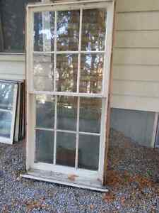 Antique single pane windows