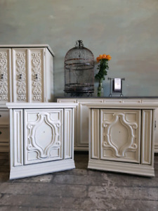White Side Tables (pair)