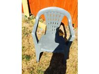 12 plastic chairs