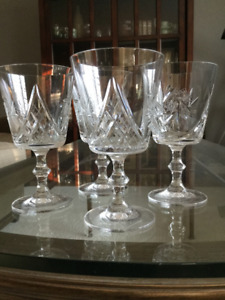 4 Crystal glasses - Pinwheel - NEW