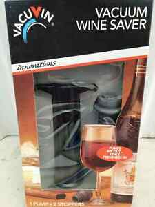 Vacu Vin Vacuum Wine Saver Pump with 2 x Vacuum Bottle Stoppers