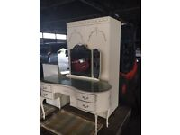 LOUIE STYLE DRESSING TABLE WARDROBE & 5 DRAWER CHEST IF DRAWER SET