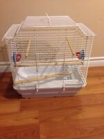 Bird cage with accessories VERY CLEAN MINT CONDITION