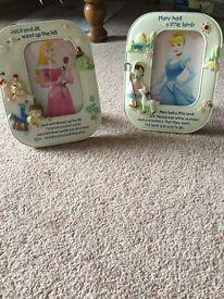 Two nursery rhyme photo frames