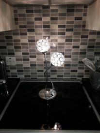 DUNELM SPHERE 2 LIGHT TABLE LAMP
