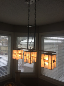modern stained glass light