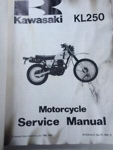 80 81 82 83 Kawasaki Factory KL250 Service Manual Regina Regina Area image 2