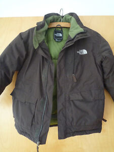 NORTH FACE youth winter jacket, waterproof, brown, size M