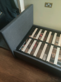 Single bed frame with lift up storage