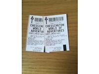 Chessington Tickets X2