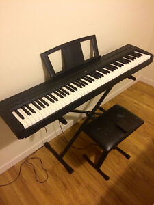 Used Yamaha 88 Note Digital Piano Model: P 45 B with Stand, susp