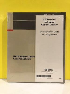 Hp E2090-90107 Standard Instrument Control Library Quick Reference Guide