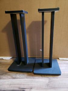 2 stereo speaker stands