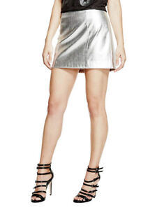 GUESS Womens Zola Faux-Leather Skirt