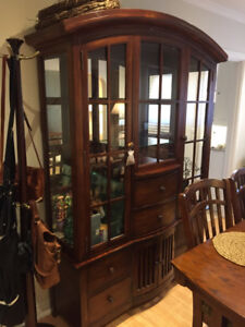 Beautiful Solid Wood Hutch (2-piece)