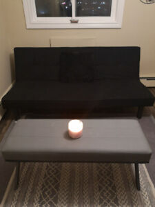 Used black couch (futon)!