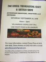 2nd Annual Thanksgiving Craft & Artisan Show