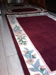3PC GENUINE ANGLO ORIENTAL RUGS - NEW