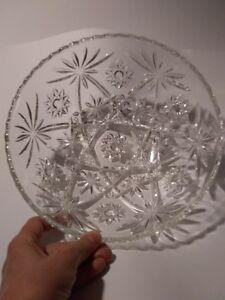 "Vintage Anchor Hocking ""STAR OF DAVID"" PRESSED Glass Bowl"