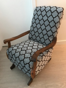 Victorian Spring Platform Rocking Chair