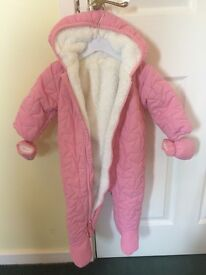 Next Baby Girl Snow Suit 6-9 months