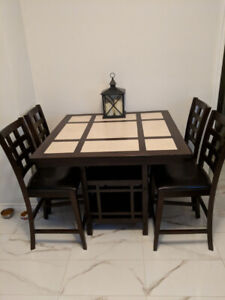 5 Piece Pub Style Table & Chairs