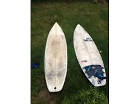 Reduced Two well used boards up for offers