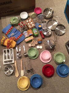 Pottery Barn Kids Play Kitchen Accessories Lot