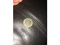 Error 2014 ww1 2 pound coin