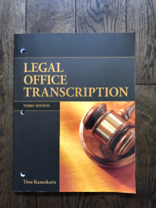 Legal Office Transcription Third Edition, with CD - like new