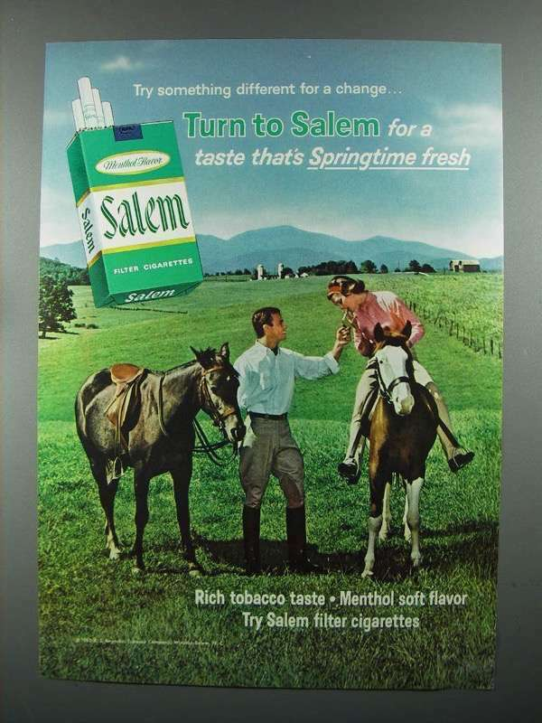 1965 Salem Cigarette Ad - Try Something Different