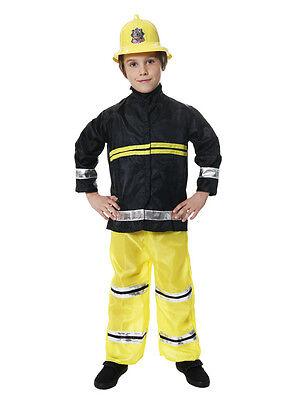 New Boys Fireman Sam Fire Fighter Fancy Dress Up Costume Kids Outfit XMAS Party  (Fireman Dress Up)