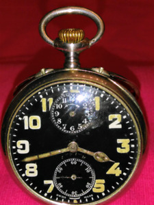NEW Year SALE :  Zenith Alarm And Desk Pocket Watch Silver 925