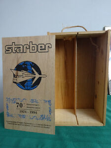 Vintage Starber International Freight Forwarders Wine Box