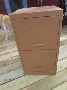 Antique 2 drawer filing cabinet