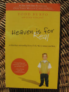 Book: HEAVEN is for REAL, Todd BURPO – NY BESTSELLER 5/10$