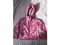 Girls Trespass ski jacket / coat age 2-3