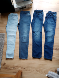 Girls jeans and jeggings size 12 - 13 years