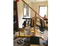 Multi Gym - 3 Station Leverage & Lots of Weight plates - Heavy Duty