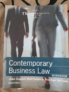 Contemporary business law book for sale