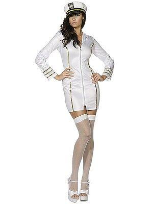 Smiffy's 21221 Miss Navy Costume Sailor Cosplay White NEW S, M, L Halloween](Halloween Costumes News)