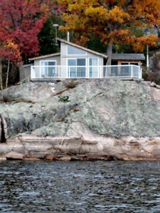 Private Waterfront Cottage w/pontoon boat for rent