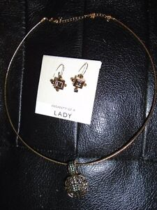 Marcasite  Necklace and Earrings Set - from estate
