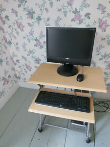 ViewSonic Desktop Monitor, Keyboard, Mouse and Desk